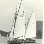 J-CZ 1 Daniela auf der Elbe um 1944
